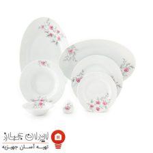 سرویس چینی ۲۸ پارچه غذاخوری گل پامچال