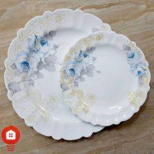 سرویس غذاخوری ۲۵ پارچه گرد مقصود آرکوپال گل آرایی لیوسا فیروزه (Liyosa)