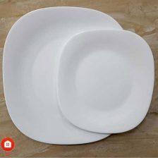 سرویس غذاخوری ۲۶ پارچه چهار گوش آرکوپال مقصود گل آرایی سفید (White)