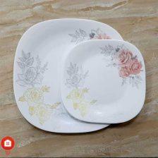 سرویس غذاخوری ۲۶ پارچه چهار گوش آرکوپال مقصود گل آرایی آدرنیس (Adernis)