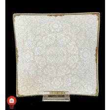 تخت ۲۰ ( پیش دستی ) چینی تقدیس قالب شارلوت گل آرایی آرمیتاژ طلا