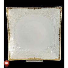 گود ۲۱ ( خورشت خوری ) چینی تقدیس قالب شارلوت گل آرایی آرمیتاژ طلا