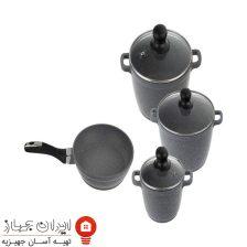 سرویس پخت و پز و ماهیتابه  زرساب  ۷ پارچه مدل ML-7410