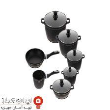 سرویس پخت و پز و ماهیتابه زرساب ۱۲ پارچه  مدل ML-7400